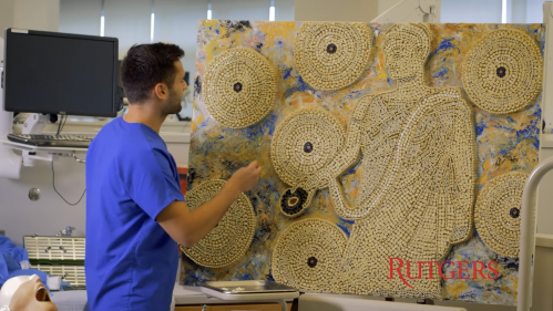 Dental student Brandon Smith makes art out of teeth