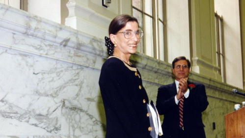 Ruth Bader Ginsburg at 15 Washington St. in Newark
