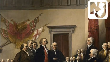 Historical drawing of county government figures