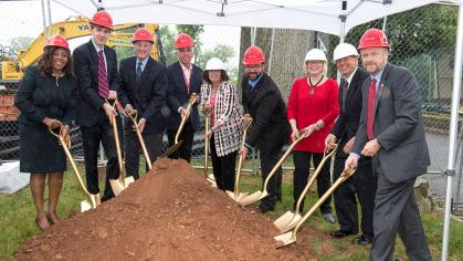 Ground breaking on Rutgers Center for Adult Autism Services