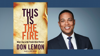 composite of CNN anchor Don Lemon and his new book cover