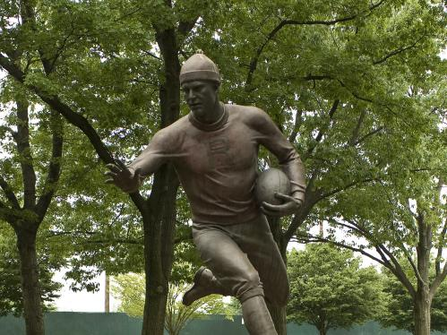 Birthplace of college football statue