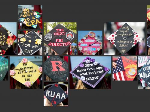 Commencement mortar board collage