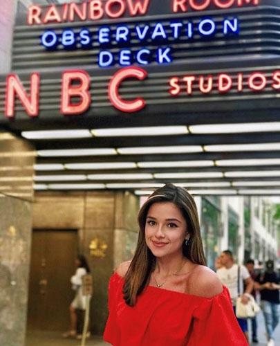 Tsirkin In Front of the Entrance To NBC Studios At 30 Rockefeller Plaza in New York