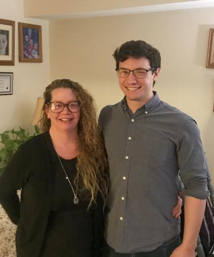 2020 Beinecke Scholar Nate Serio with his mom Kristi.