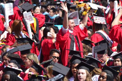 Crowd of Rutgers Graduates at 2019 Commencement