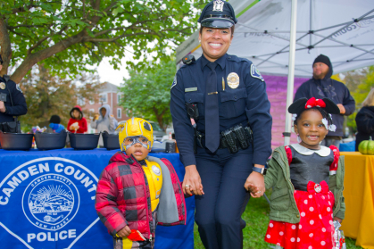 Lissandra Sime, an officer with the Camden County Police Department with Camden children